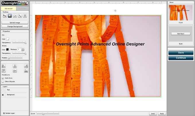 Overnight Prints Advanced Designer