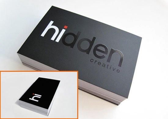 Business Card With Hidden Optical Illusion