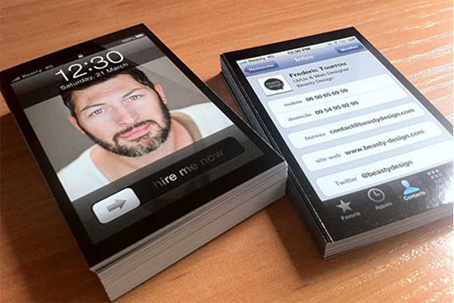 iPhone Design Business Card