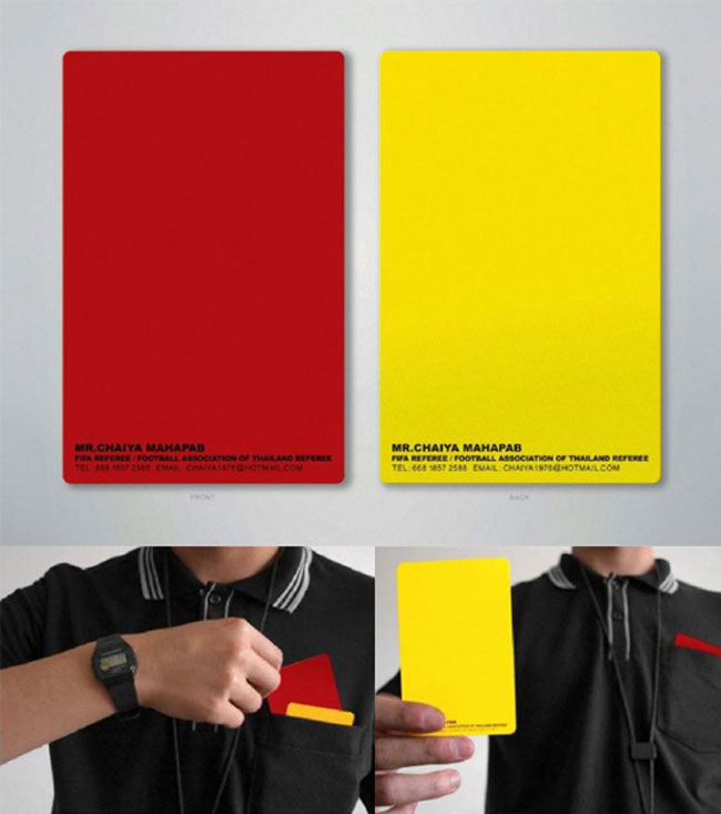 Football Referee Business Card