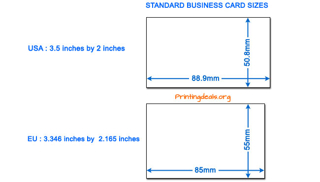 Alfa img Showing Average Business Card Dimensions
