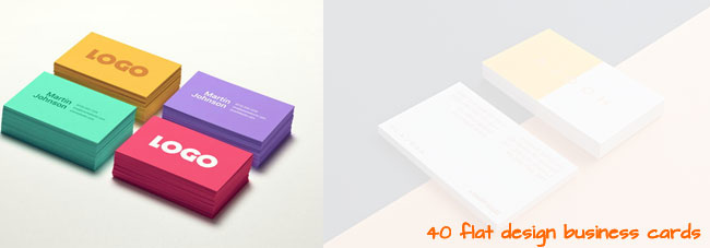 40 Flat Designs: Inspiration For Business Cards