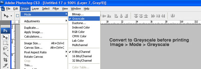 convert your document to greyscale