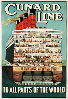 Vintage Poster Cruise Cunard