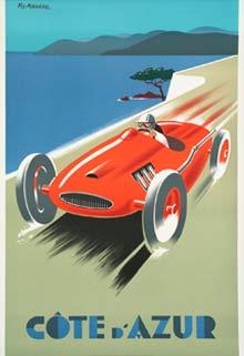 Vintage Poster Cote d'azure racing