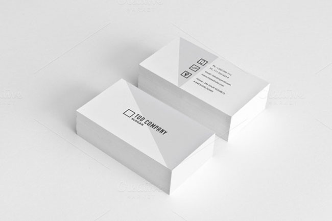 Flat design business card mockup