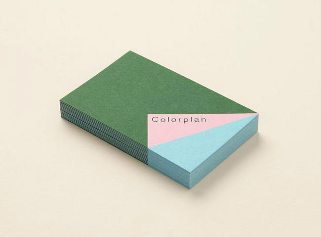 Flat design business card Colorplan