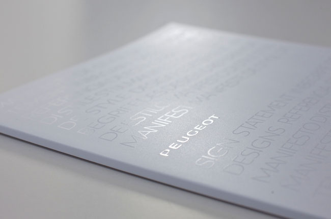Spot UV catalogue Peugeot