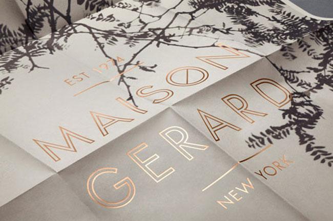 Spot UV flyer Maison Gerard
