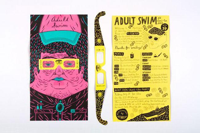 Brochure design ideas Adult Swim Comic con