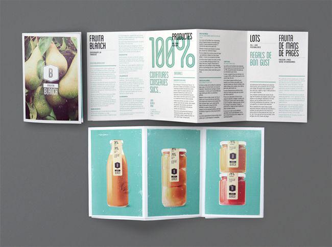 Brochure design ideas Fruita Blanch
