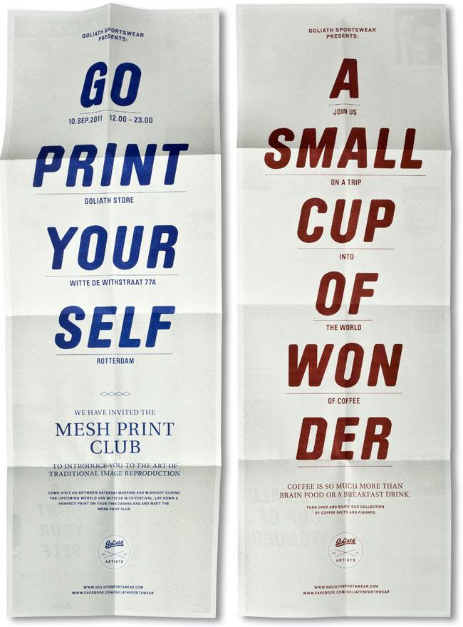 Brochure design ideas Goliath Sportswear