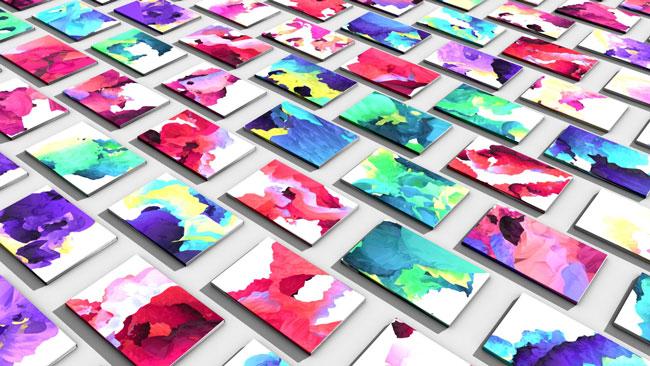 Brochure design ideas digital painting