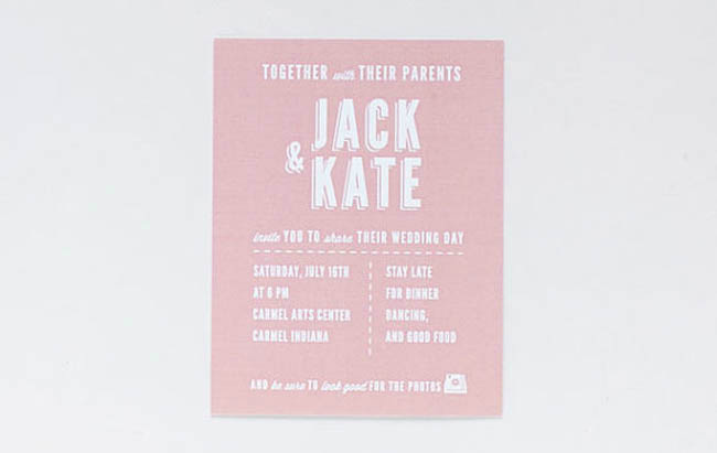 polaroid wedding invitation for jack and kate