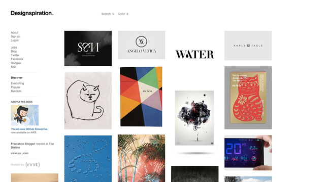 Graphic design blog Designspiration