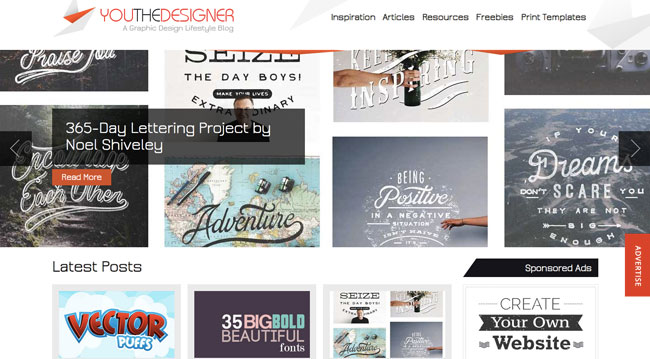 Graphic design blog You The Designer