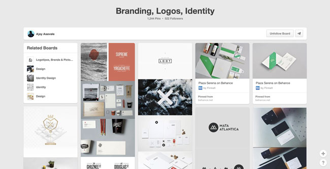 Pinterest board design Ajay Asavale