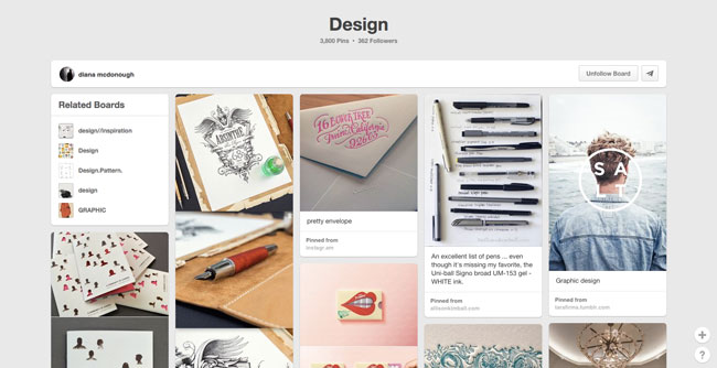 Pinterest board design Diana Mcdonough