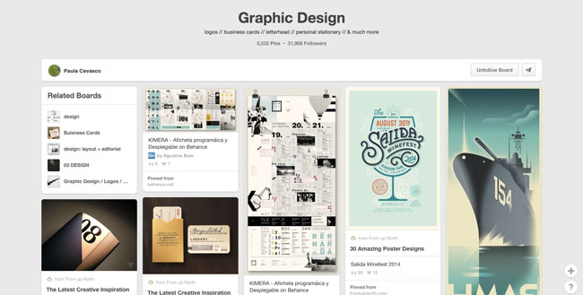 Pinterest board design Paula Cevasco