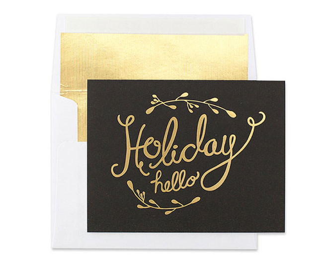 Holiday card hand lettered Lala Grace