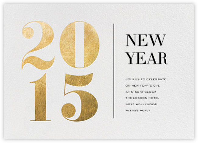 35 Amazing New Year Cards To Welcome 2015 - Printingdeals.org