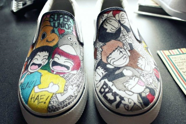 KPop shoes by aqueerpanic