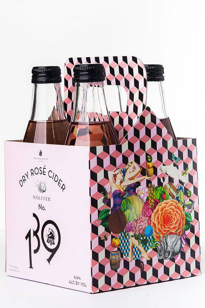 Dry Rose Cider packaging design