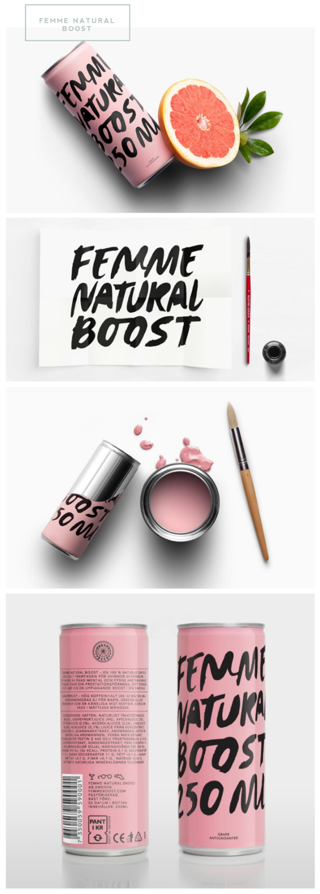 Femme Natural Boost packaging