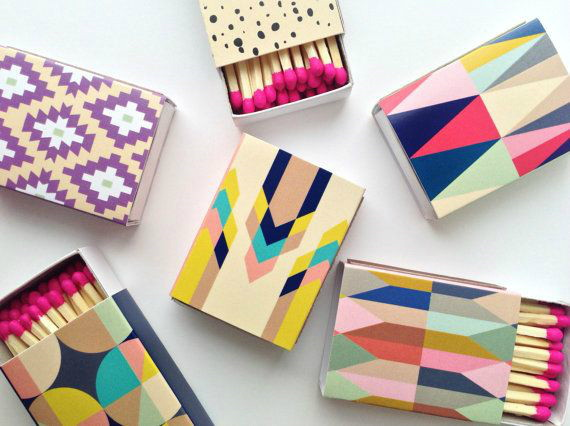Bellopop matchboxes on Etsy