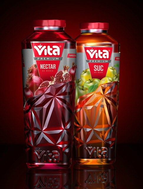 Vita Premium Juices packaging design