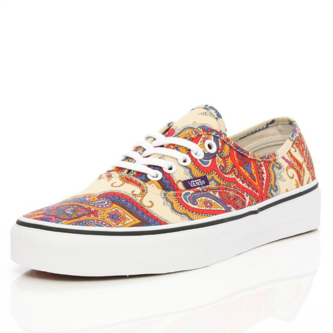 paisley print vans authentic sneaker