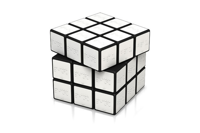 Good design Braille Rubiks Cube