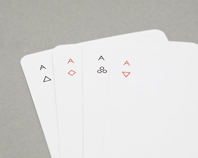 Good design Iota Playing Cards minimalist