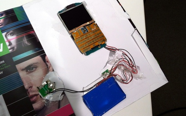 teardown - a complete phone was inserted in the magazine