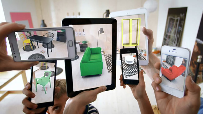 Interactive print IKEA augmented reality