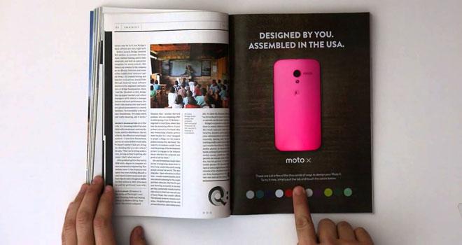 Motorola Moto X interactive ad