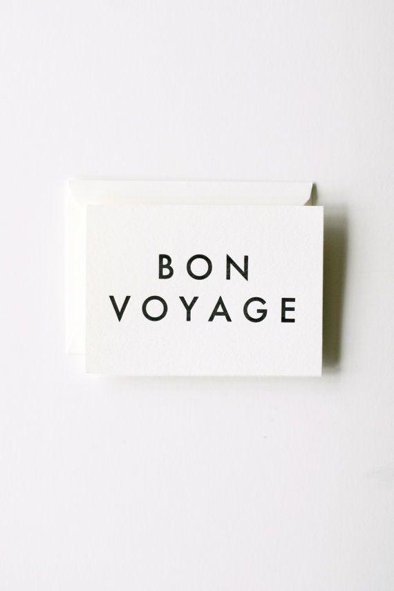 bon voyage notecard