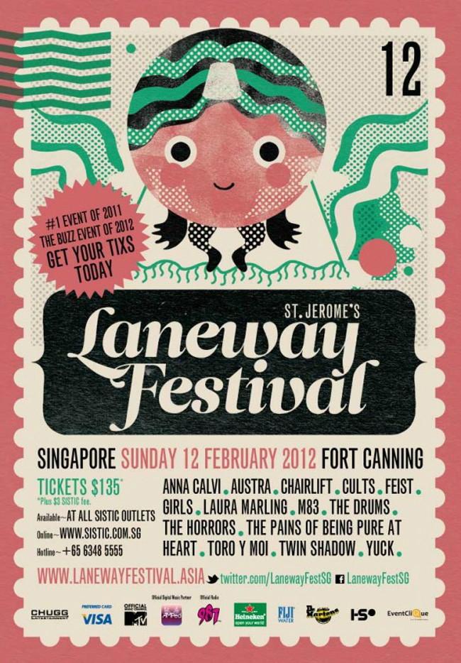 laneway festival poster
