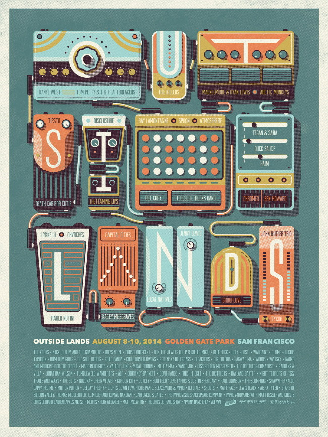 outside lands poster