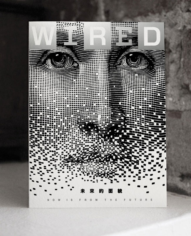 Digital printing example Wired magazine
