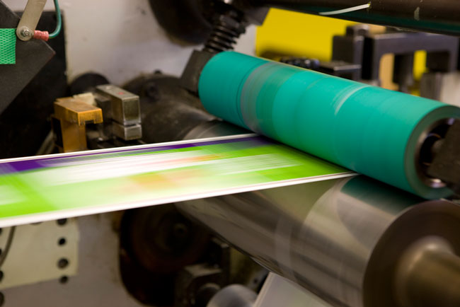 Flexographic printing process color