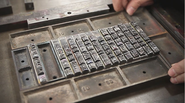 Letterpress printing process type