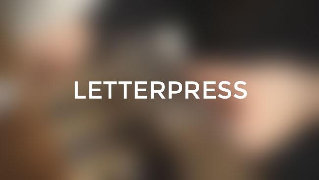 Letterpress printing cover