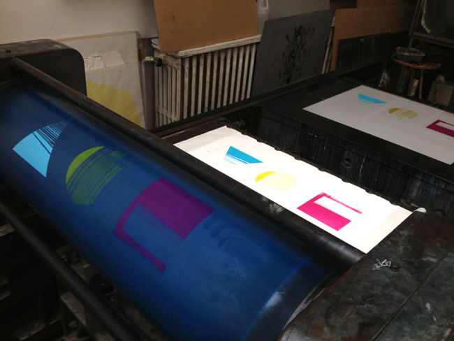 Offset lithographic printing example