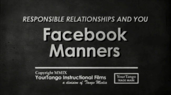 Facebook manners