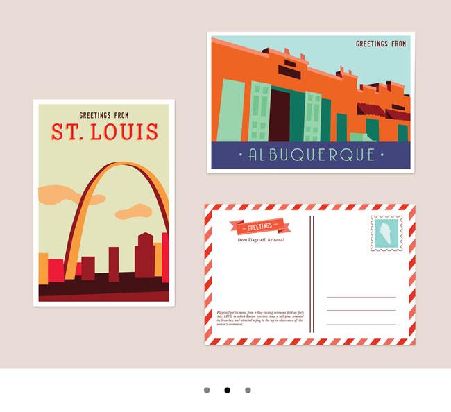 Travel postcards Route Sixty-Licks Sara Surrette