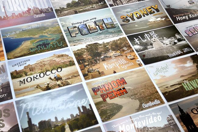 Travel postcards Small World Project Dan Burgess