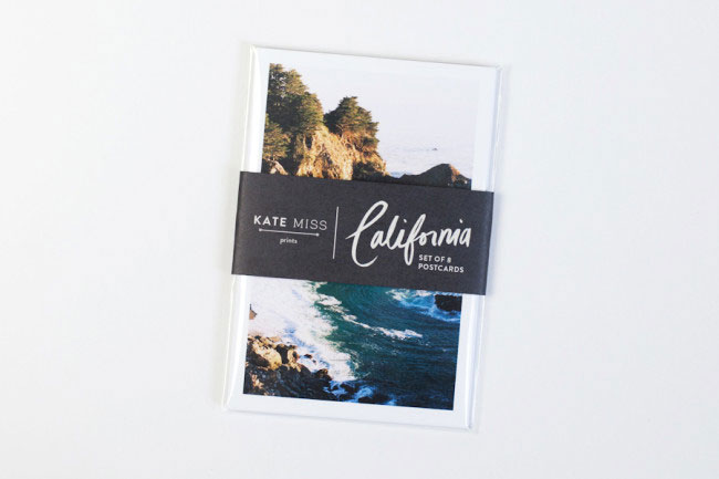 Travel postcards California Kate Miss