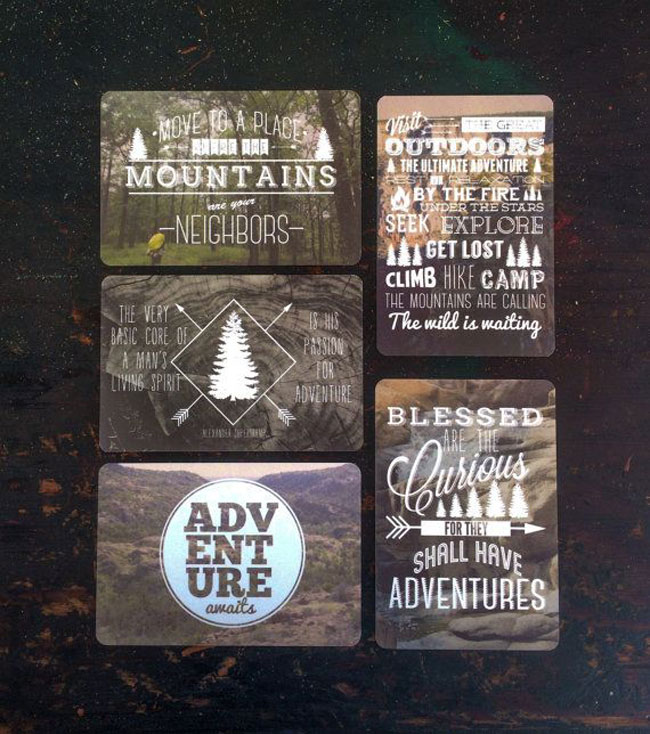 Travel postcards The Great Outdoors Anthony Fontaine