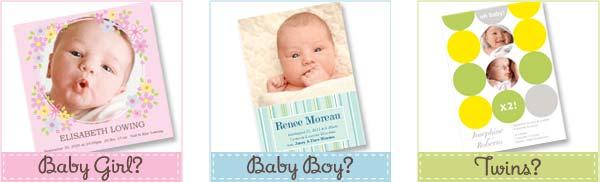 Birth Announcement card templates